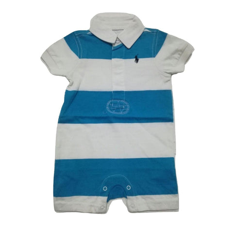 Polo by  Ralph Lauren White collar with Blue and white  Stripe Romper