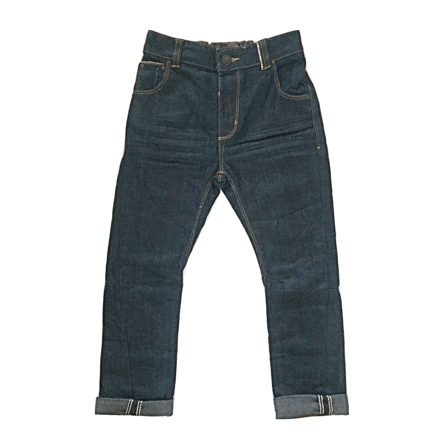 George Baby Boys Fold-up Navy Blue Jeans