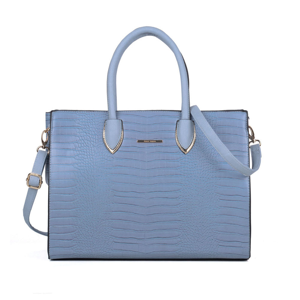 Sally Young Womens Croc Blue Tote Bag