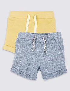 M&S Baby Boys Two Pack Sweat Shorts