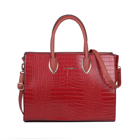 Sally Young Womens Croc Red Tote Bag