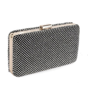 Black Mesh Womens Clutch Bag