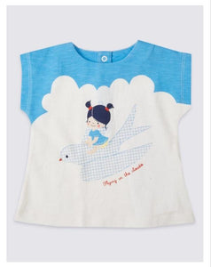 M&S Baby Girls Pure Cotton Printed Baby Girls Top
