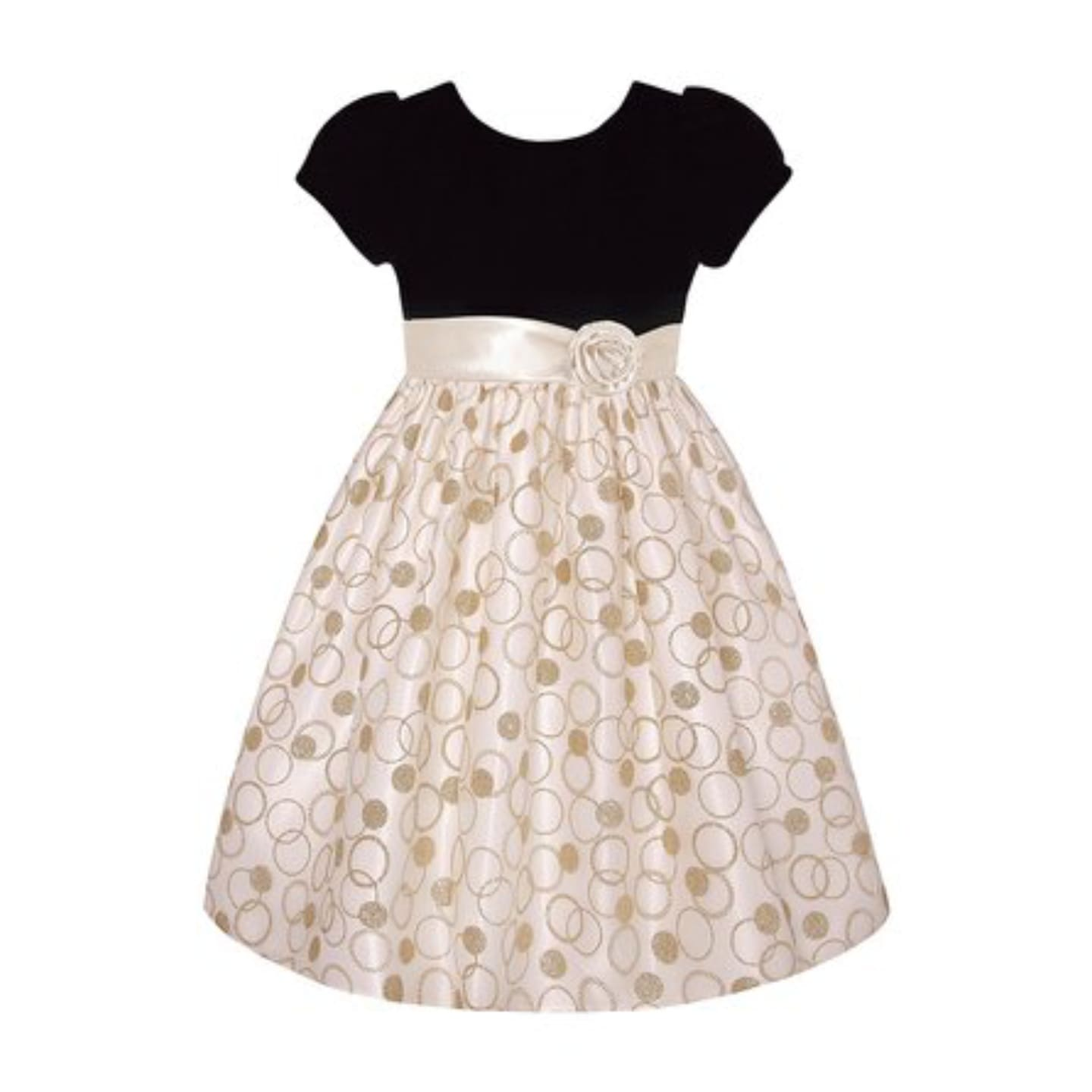 American Princess Girls Candlelight & Black A-Line Dress