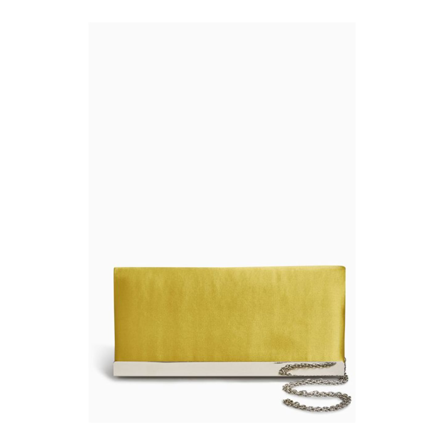 Next Citrine Satin Long Clutch Bag