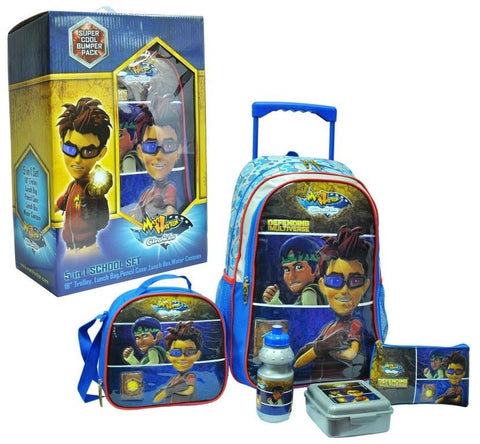 Blue Five in One Matt Hatter School Trolley Set