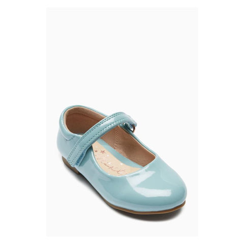 Next Girls Blue Mary Jane Glitter Shoes