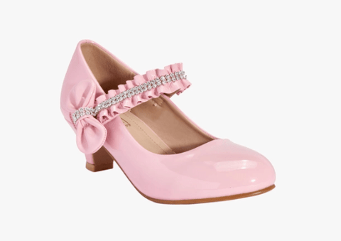 Truffle Collection Girls Pink Belly Party Shoes