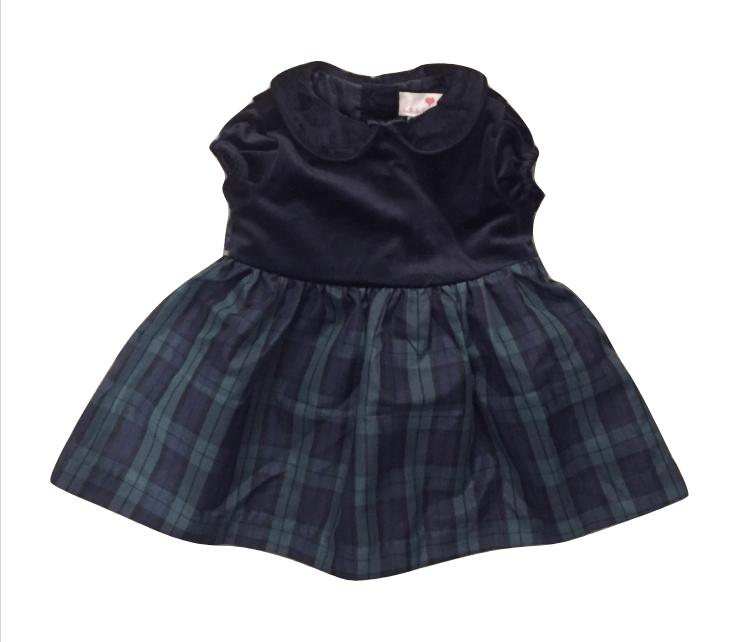 Lulurain Tartan Dress - Blue - Stockpoint Apparel Outlet