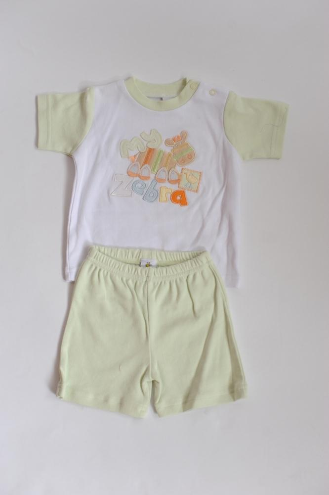 Just Too Cute White & Green Two Piece - Stockpoint Apparel Outlet
