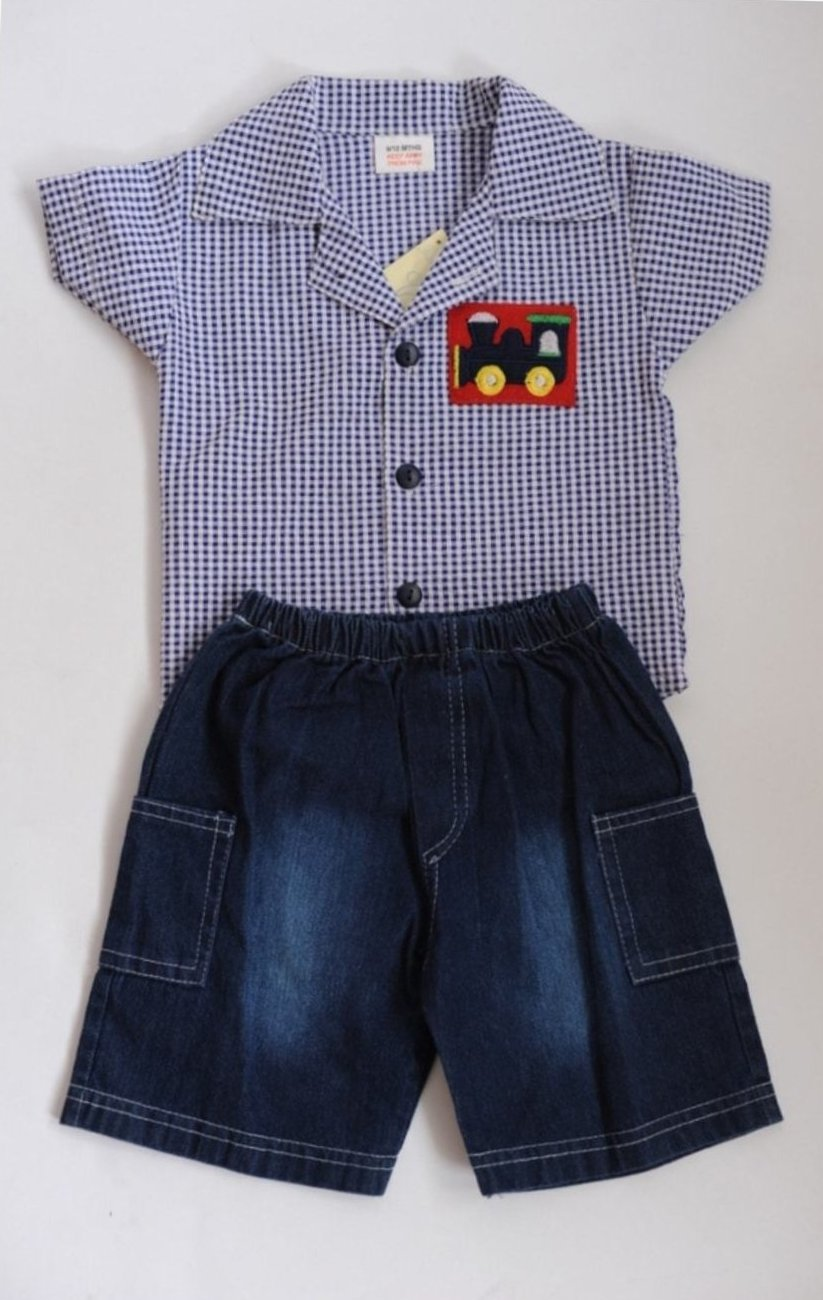 Bumble Bear Baby Boys Train 2 Piece Set