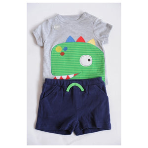 Pep & Co Green Dino Two Piece Set - Stockpoint Apparel Outlet