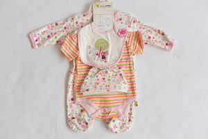 Just Too Cute Bunny and Bee  Baby Girls Essential 5 Piece Set