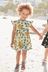 Next Ecru Pineapple Dress - Stockpoint Apparel Outlet