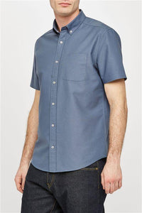 Next Blue Regular Short Sleeve Oxford Shirt