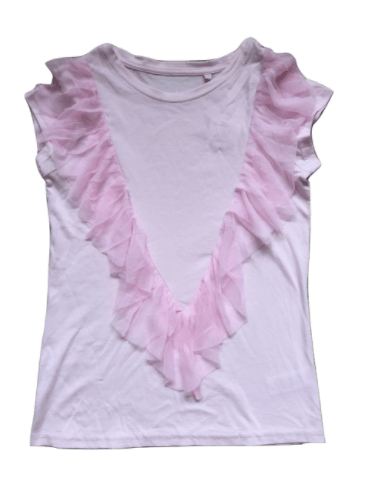 Next Girls Pink Mesh Ruffle Top - Stockpoint Apparel Outlet