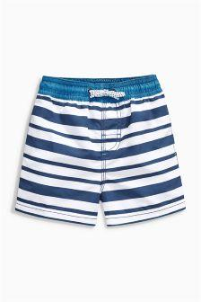 Next Blue/White Stripe Swim Shorts - Stockpoint Apparel Outlet