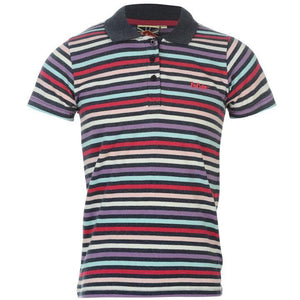 Lee Cooper Yarn Dye Stripe Polo Girls - Stockpoint Apparel Outlet