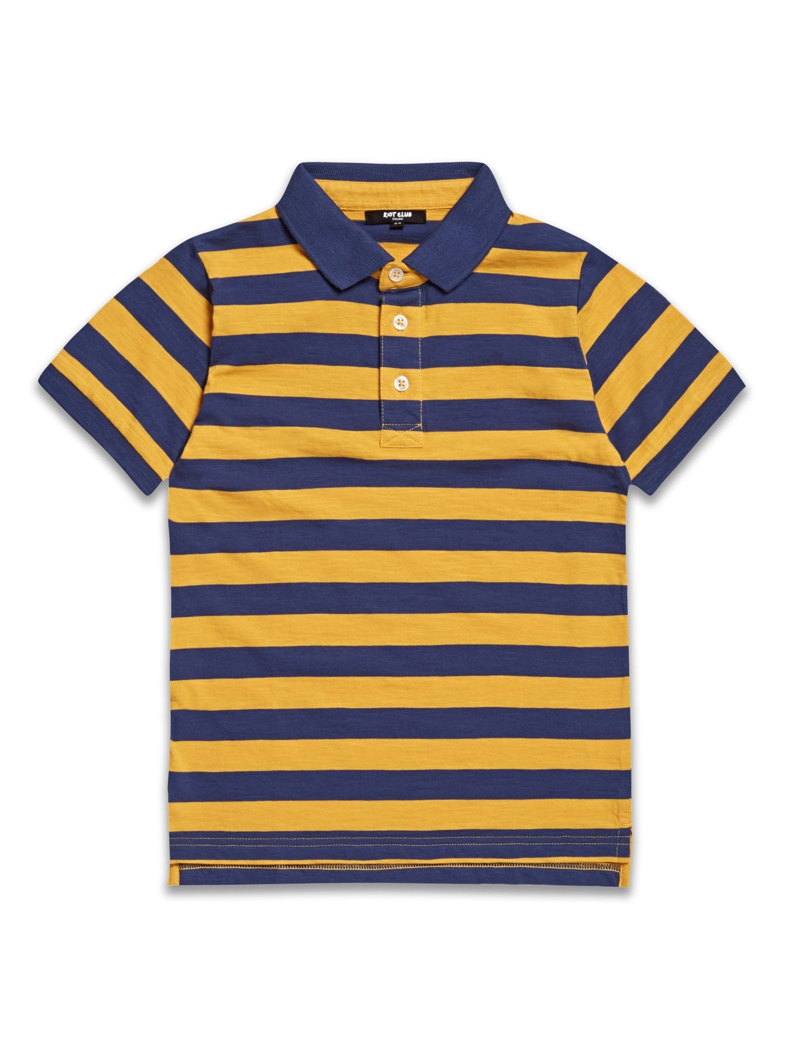Riot Club Navy Mustard Polo Shirt