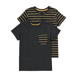 George 2 Pack Striped T-shirts