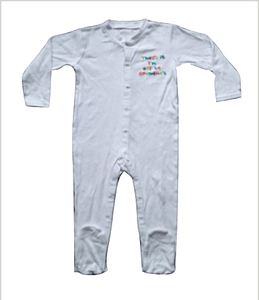 Baby Boys White Sleepsuit