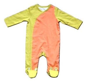 Orange & Lime Colour Boys Sleepsuit - Stockpoint Apparel Outlet