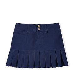Ralph Lauren Navy Stretch Cotton Chino Skirt