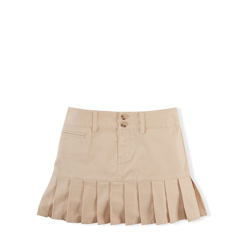 Ralph Lauren Khaki Stretch Cotton Chino Skirt