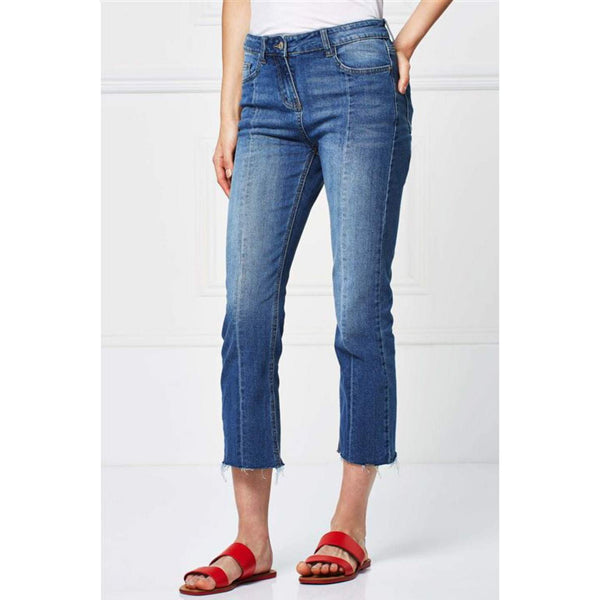 Next Womens Mid Blue Crop Jeans