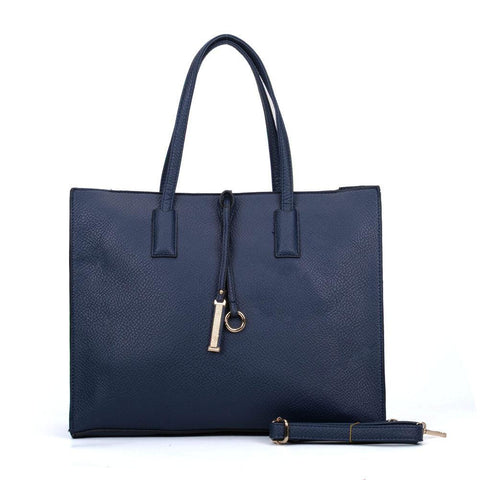 Womens Blue Boxy Tote Bag