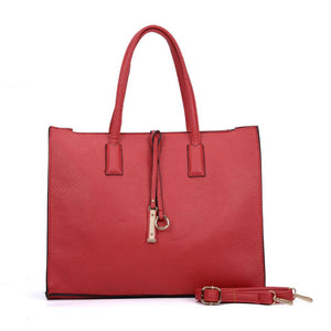 Red Boxy Tote Bag