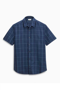 Next Mens Navy Linen Shirt