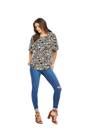 V By Very Womens Batwing Printed Blouse