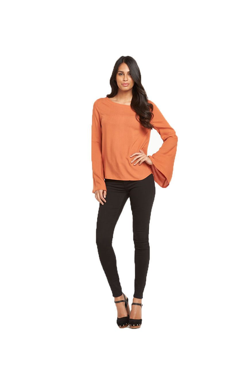 Vila Vibelle Flare Sleeve Top - Stockpoint Apparel Outlet