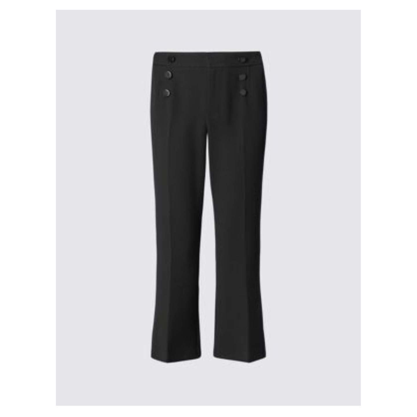 M&S Womens Black Stitched Trouser