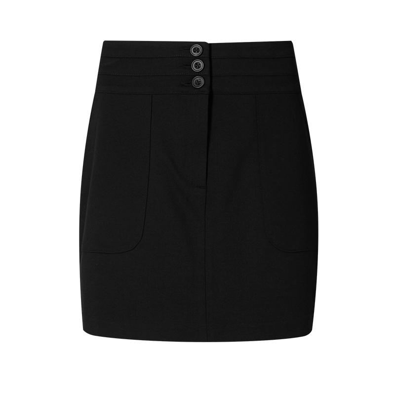 M&S Women's Mini - Skirt Slim Skirt Black - Stockpoint Apparel Outlet