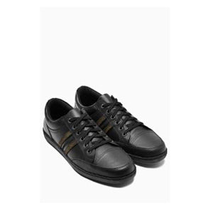 Next Mens Black Cap Toe Sneakers