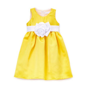 Z by Yoon Girls Yellow Flower A-Line Dress