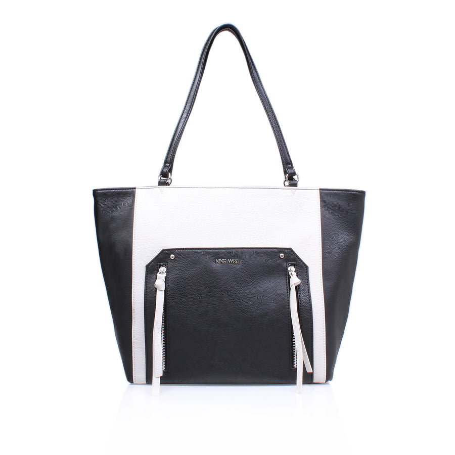 Nine West Getting Ziggy Womens Black Tote Bag