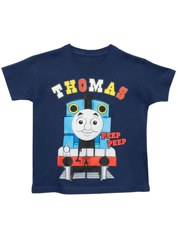 Thomas the Tank Engine Peep Peep Boys Navy  T-shirt