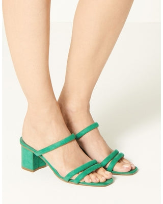 M&S Collection Green Multi Strap Mule Womens Sandals