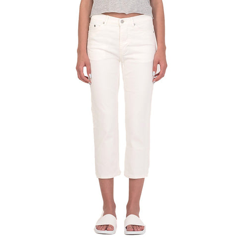 Cheap Monday Womens Level Bright White Slim Jeans