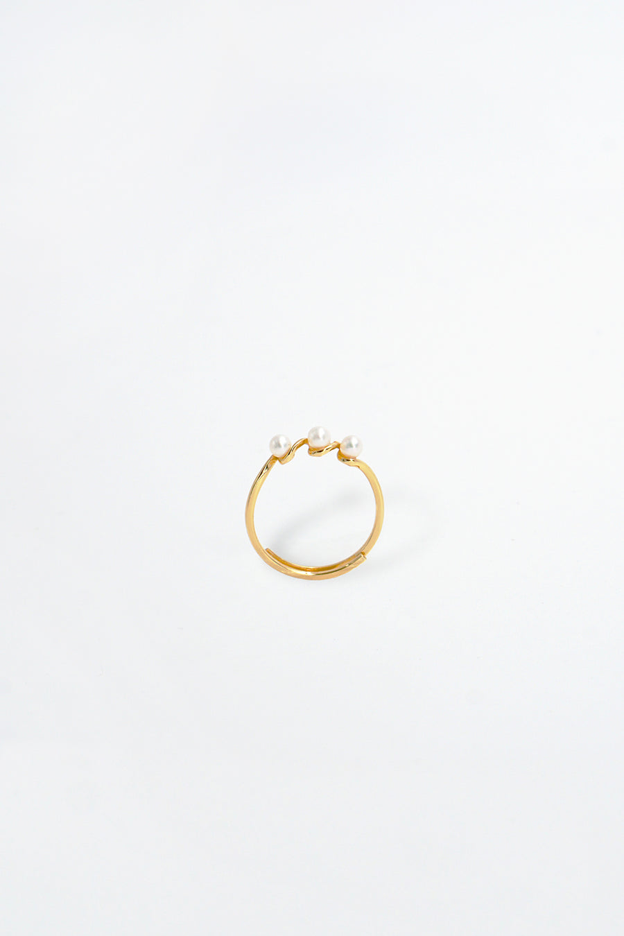 Aria 14K Gold Plated Pearl Ring