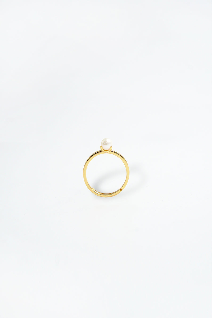 Audrey 14K Gold Plated Pearl Ring