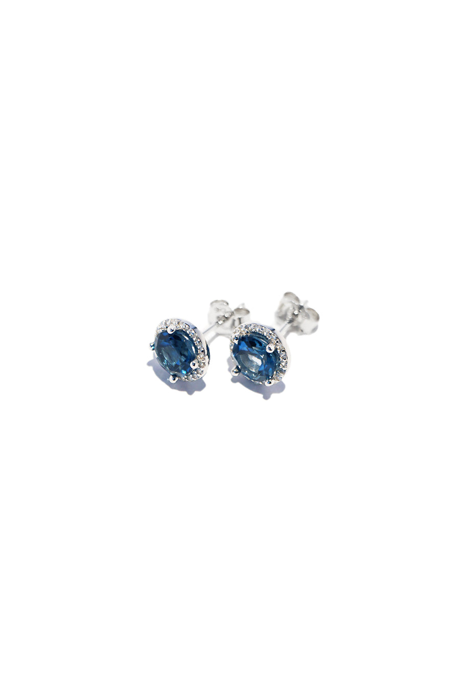 Ocean Glow Topaz Sterling Silver Earrings