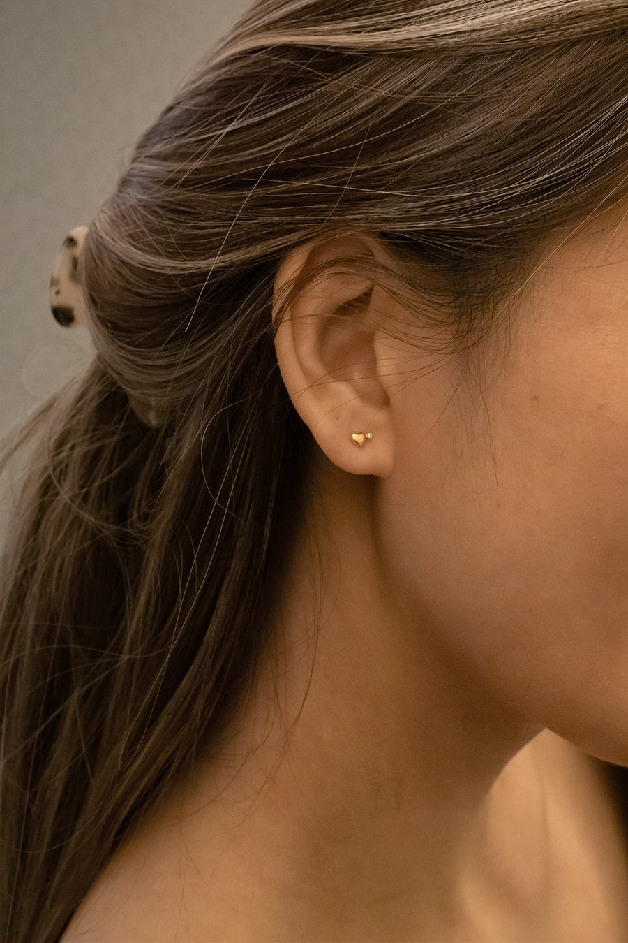 Mini Hearts Diamond Earrings