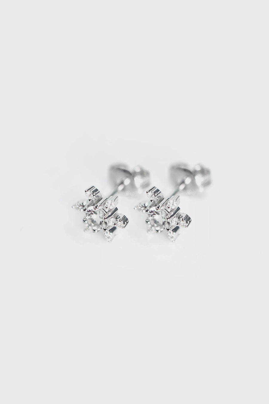 Snowflake Sterling Silver Studs