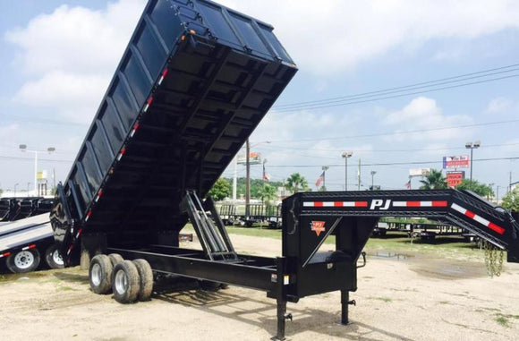 PJ Trailers 20 Ft. Gooseneck Dump Trailer