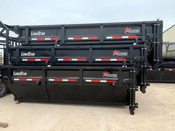 Dumpster Box For Roll-Off Dump Trailers