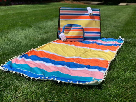 Beach Bag Kit - Blue, Pink, Orange, Yellow Stripe's